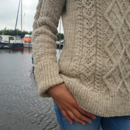 Journey sweater Moeke Yarns