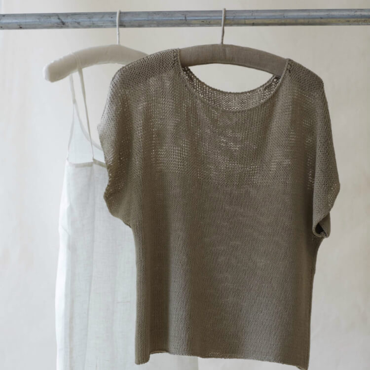 7d91b4d0f Siena - knitting pattern Erika Knight Studio Linen - Wol zo Eerlijk